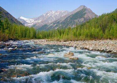 Obraz Shumak Rzeka w Loach Tunkinskie Eastern Sayan w górach