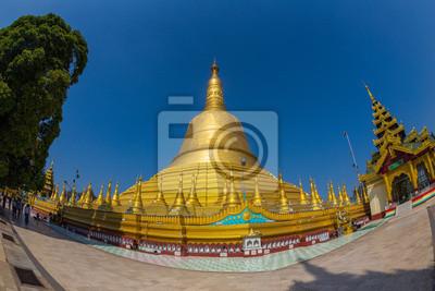 Obraz Shwemawdaw Paya Pagoda, najwyższa pagoda w Bago, Birma.
