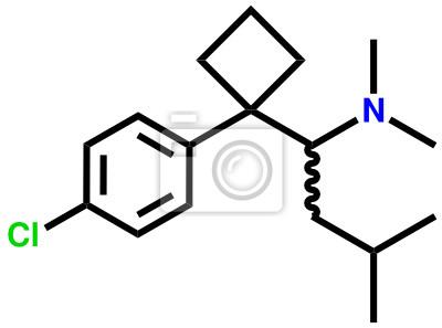 Sibutramina (leczenie otyłości) wzór strukturalny