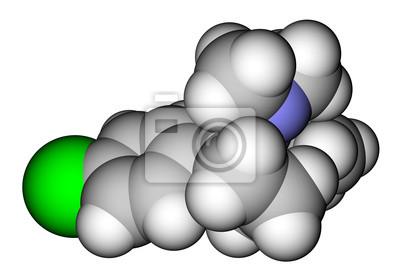 Sibutramina (oral anorexiant, leczenie otyłości) cząsteczka