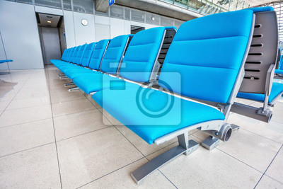. Siedzenia na lotnisku w poczekalni salonu