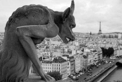 Obraz sierpnia 2006 r., Chimere patrząc w Paryżu