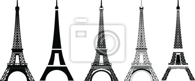 Obraz Silhouette and isolate Eiffel tower at Paris of France.