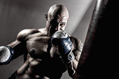 Obraz Silny umięśniony boksera w szkoleniu