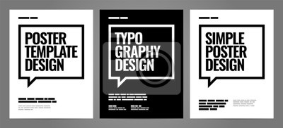 Obraz Simple template design with typography for poster, flyer or cover.