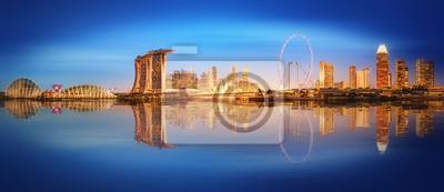Singapur Skyline i widok Marina Bay