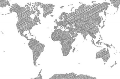 Obraz Sketchy Map of the World