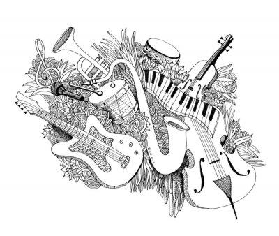 Obraz Skład instrumentów muzycznych
