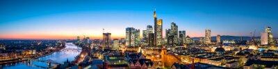 Obraz Skyline Frankfurt am Abend