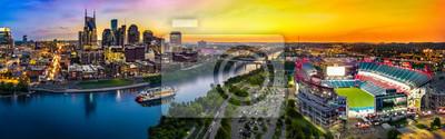 Obraz Skyline Nashville ze stadionem