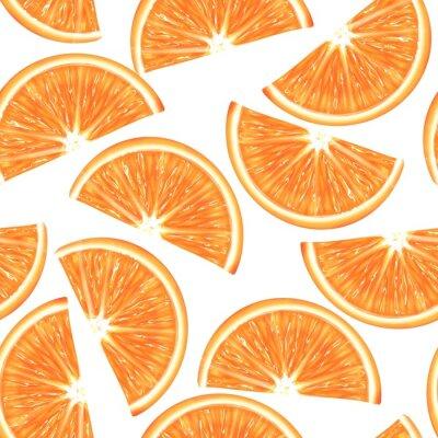 Obraz Sliced orange seamless pattern. Vibrant exotic fruits background
