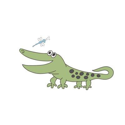 Śliczne wydruki z krokodylem