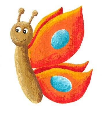Obraz Słodkie pomarańczowy motyl