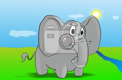 Słoń wektor