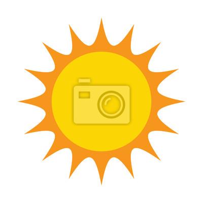 Obraz Słońce wektor symbolu ikony projektowania. ilustracji samodzielnie na białym ba