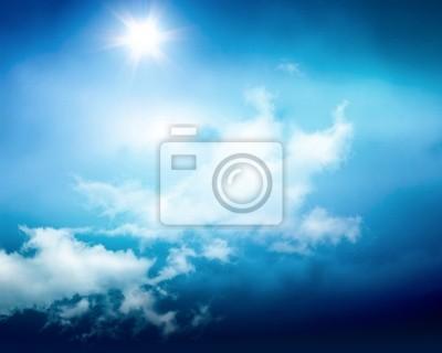 słoneczne niebo w tle z chmury
