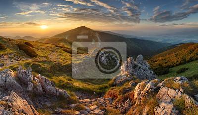 Obraz Słowacja góra od szczytu Chleb