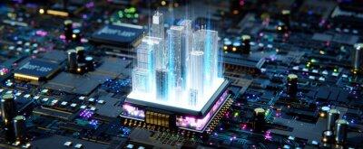 Obraz Smart city concept. 3d rendering
