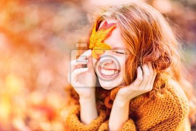 Obraz śmiejąc jesień