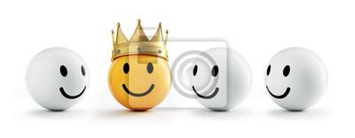 Obraz Smiley z koroną i przyjaciółmi