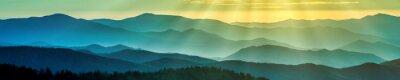 Obraz Smoky grzbiety górskie