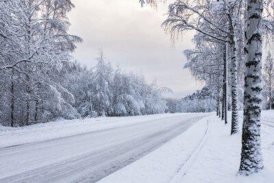 Obraz Snowy drogowego silnika