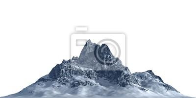 Obraz Snowy mountains Isolate on white background 3d illustration