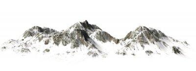 Obraz Snowy Mountains - Mountain Szczyt - rozdzielone na białym tle