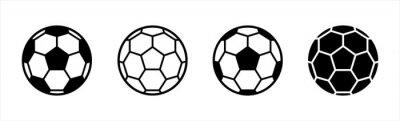 Obraz Soccer ball icon. football simple black style, Vector illustration.
