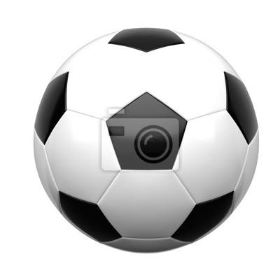 Obraz Soccer ball isolated on white background 3d rendering