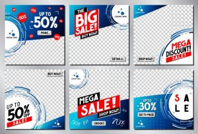 Obraz Social media advertisement - sale template - vector illustration