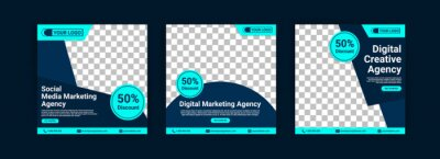 Obraz Social media marketing agency. Digital Marketing Agency. Digital Creative Agency. Social media post banner template for your business.