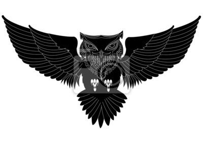 Sowa Tatuaż Obrazy Redro