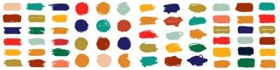 Obraz Splash banners set. Colorful paint stroke. Vector