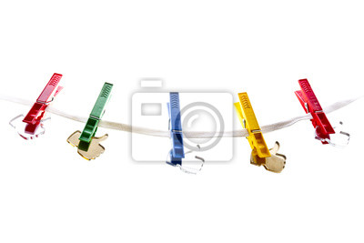 Spodobać ikony na clothesline