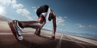 Obraz Sport. Biegacz