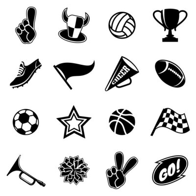 Obraz Sports icons and fans equipment
