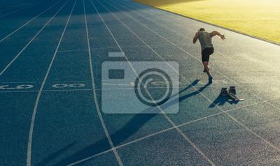 Obraz Sprinter działa na torze