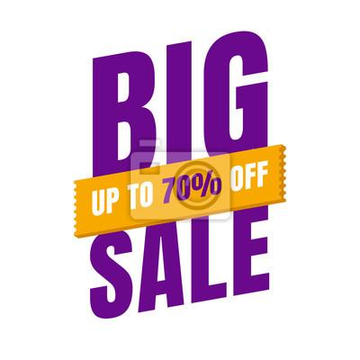 Sprzedaż szablon transparent, oferta specjalna sprzedaży Big. baner na koniec sezonu. ilustracji wektorowych.