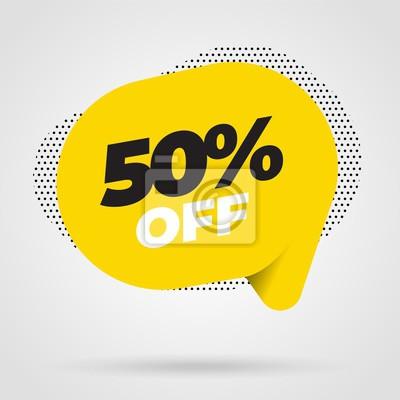 Obraz Sprzedaż szablon transparent, oferta specjalna sprzedaży Big. Ilustracji wektorowych.
