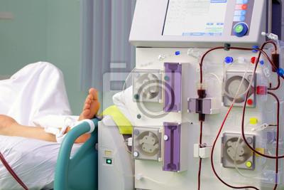 Sprzęt Medyczny Maszyna Do Hemodializy W Pobliżu łóżka Chorego Obrazy Redro