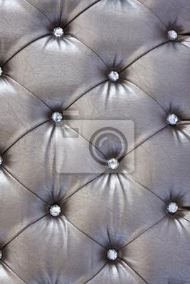 srebrny wzór tapicerki z kryształu