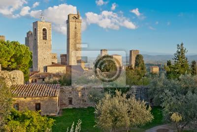 Średniowieczne miasteczko San Gimignano, Toskania, Włochy