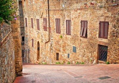 Obraz Średniowiecznego miasta Toskania - San Gimignano, Włochy