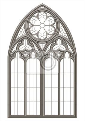 Obraz Średniowieczny gotycki witraż