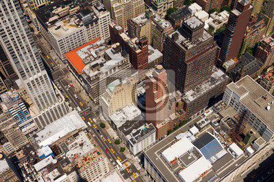 Śródmieście Ulica Birds Eye View New York