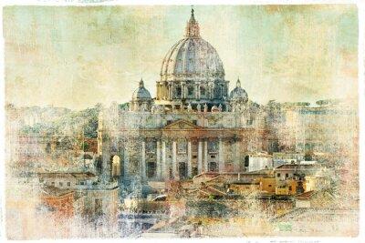Obraz st Pietro, Watykan - kompozycji w stylu malarstwa