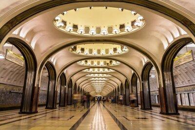 Obraz Stacja metra Mayakovskaya w Moskwie