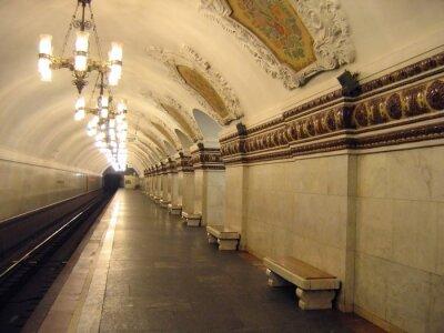 Obraz stacja metra o klasycznej architekturze
