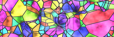 Obraz Stained glass- abstract mosaic architecture